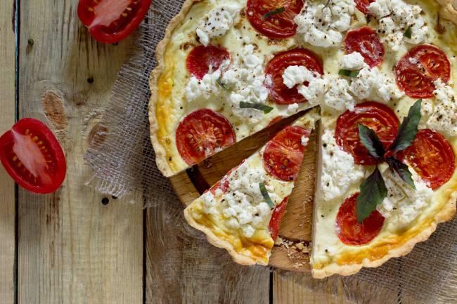 Tarte Tomate Oignon & Chèvre